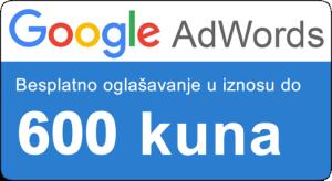 AdWords bon - kupon 600 kuna